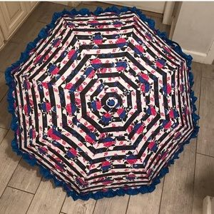 Betsey Johnson ruffle umbrella